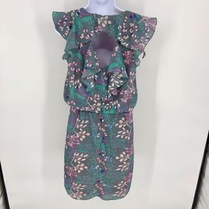 Jessica Simpson Dresses - Grey and Pastel Floral Spring Dress